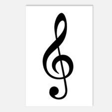 G Clef / Treble Clef Symbol Postcards (Package of