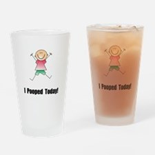 I Pooped Today! Pint Glass