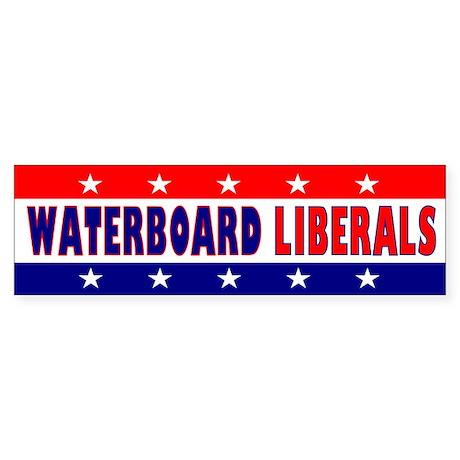 Waterboard Liberals Bumper Sticker