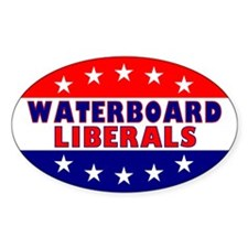 Waterboard Liberals Oval Decal