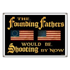 Founding Fathers Shooting Banner