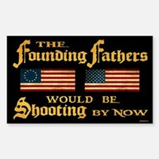 Founding Fathers Shooting Sticker (Rectangle)