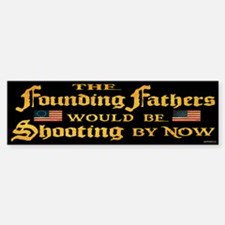 Founding Fathers Shooting Car Car Sticker