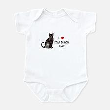 I Love Heart My Black Cat Infant Bodysuit