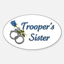 Trooper's Sister Oval Decal