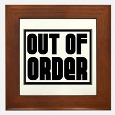 OUT OF ORDER Framed Tile
