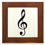 G Clef / Treble Clef Symbol Framed Tile
