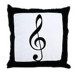 G Clef / Treble Clef Symbol Throw Pillow