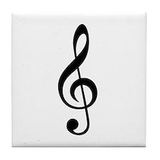 G Clef / Treble Clef Symbol Tile Coaster