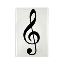 G Clef / Treble Clef Symbol Rectangle Magnet