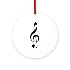 G Clef / Treble Clef Symbol Ornament (Round)