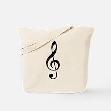 G Clef / Treble Clef Symbol Tote Bag