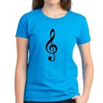 G Clef / Treble Clef Symbol Women's Dark T-Shirt