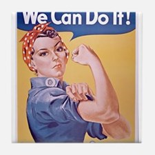Unique We can do it Tile Coaster