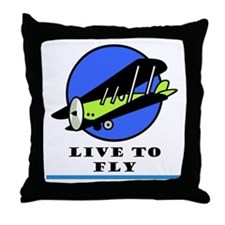 Live to Fly Throw Pillow