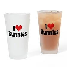 I Love Bunnies 2 Pint Glass