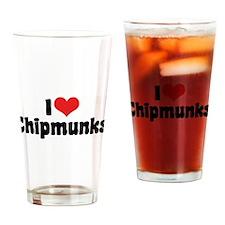 I Love Chipmunks Pint Glass
