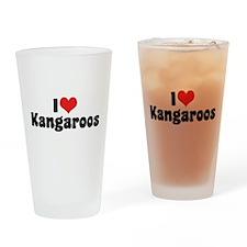 I Love Kangaroos Pint Glass