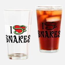 I Love Snakes Pint Glass