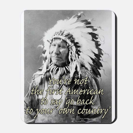 'go back to your own country' Mousepad