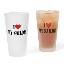 I Love My Sailor Pint Glass