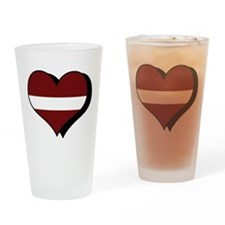 I Love Latvia Pint Glass