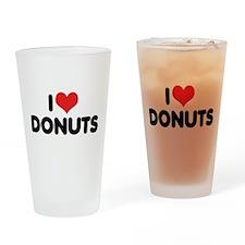 I Love Donuts 2 Pint Glass
