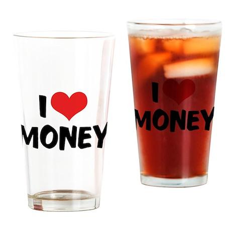 I Love Money 2 Pint Glass
