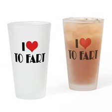 I Love To Fart 2 Pint Glass