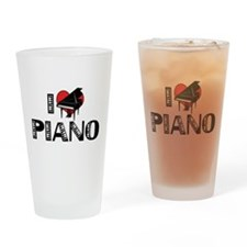 I Love Piano Pint Glass