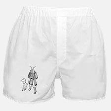 Samurai w dog Boxer Shorts