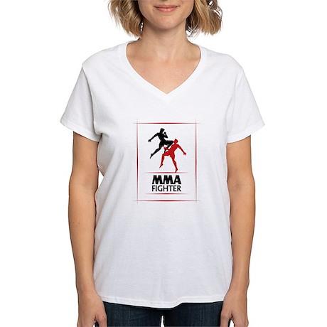 MMA Fighter Women's V-Neck T-Shirt
