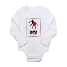 MMA Fighter Long Sleeve Infant Bodysuit
