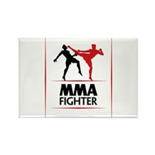 MMA Fighter Rectangle Magnet
