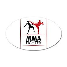 MMA Fighter 38.5 x 24.5 Oval Wall Peel