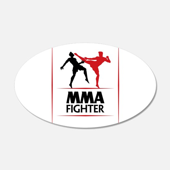 MMA Fighter 22x14 Oval Wall Peel