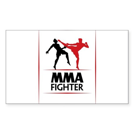 MMA Fighter Sticker (Rectangle)