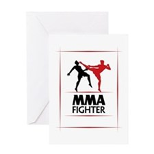 MMA Fighter Greeting Card
