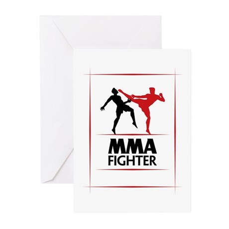 MMA Fighter Greeting Cards (Pk of 10)