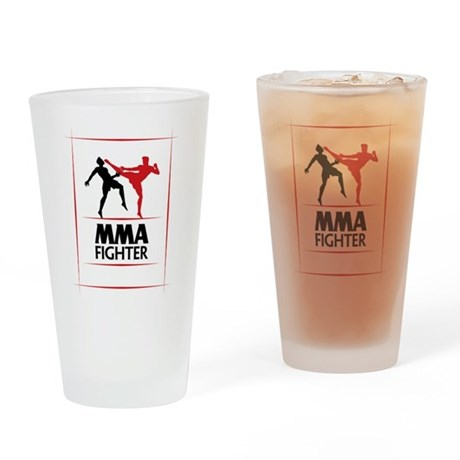 MMA Fighter Pint Glass