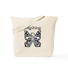 Butterfly Brain Cancer Survivor Tote Bag