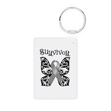 Butterfly Brain Cancer Survivor Keychains