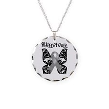 Butterfly Brain Cancer Survivor Necklace Circle Ch