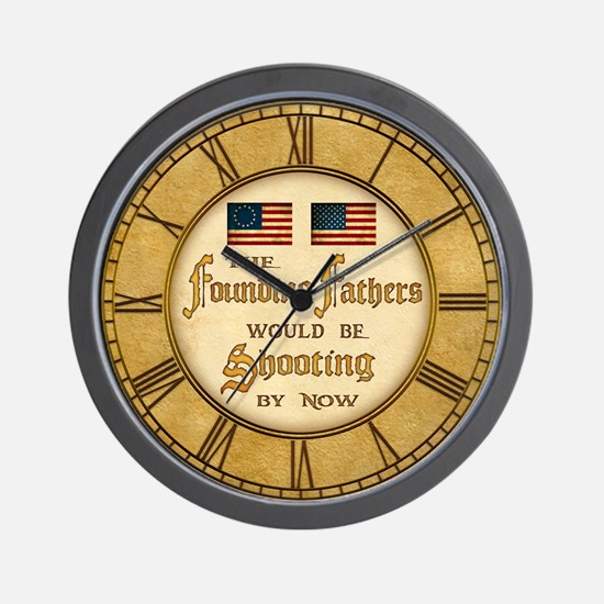 Founding Fathers Shooting Wall Clock