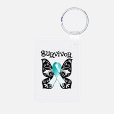 Butterfly Cervical Cancer Keychains