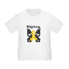 Butterfly Childhood Cancer T