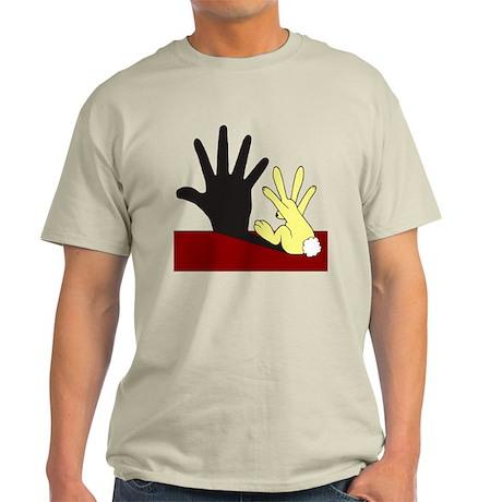 Rabit Casts a Wall Shadow Light T-Shirt
