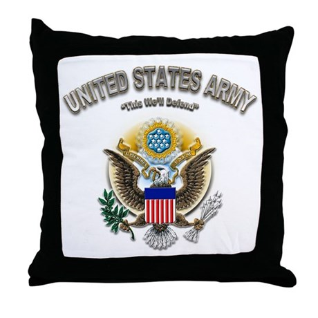 US Army This We'll Defend Eag Throw Pillow