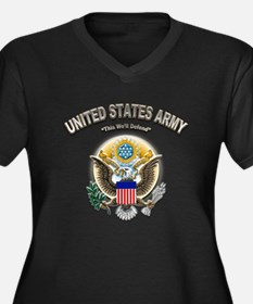 US Army This We'll Defend Eag Women's Plus Size V-