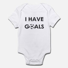 I HAVE GOALS Infant Creeper